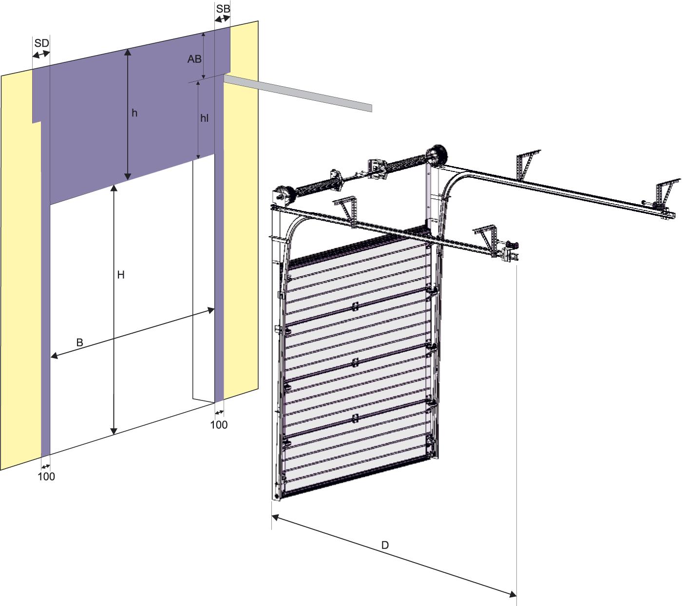 Вертикальные гаражные ворота своими руками 67