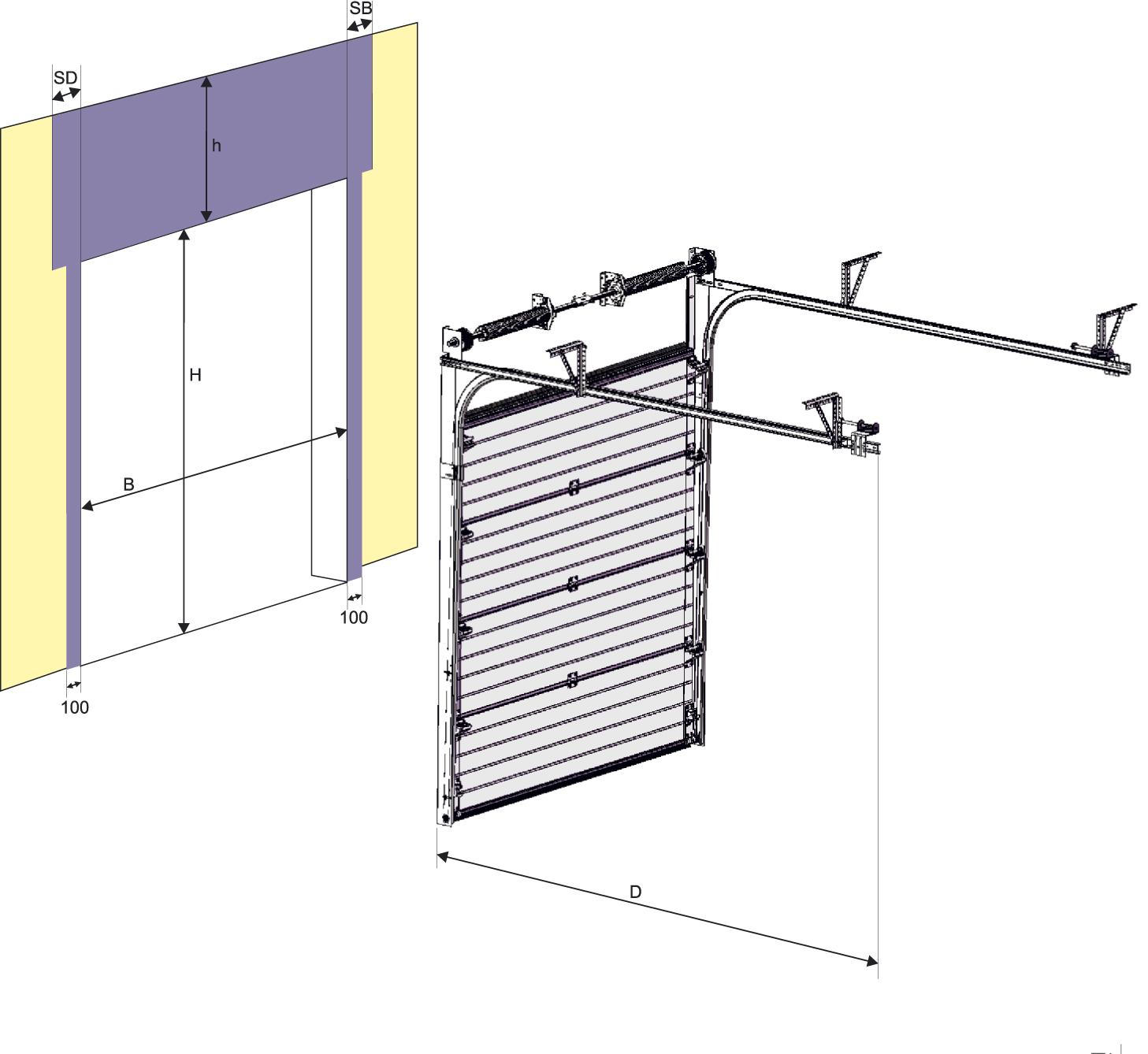 Откидные ворота для гаража своими руками чертежи: поэтапное изготовление 32